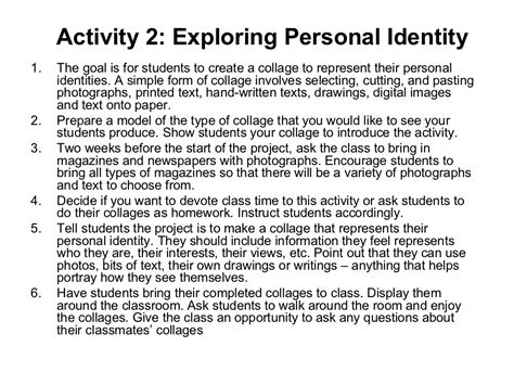 Cultural Identity Essays by Activity 2 Exploring Personal Identity1