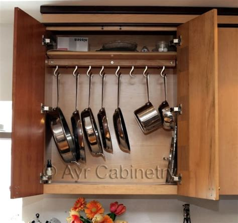 Shelf To Hang Pots And Pans Diy Place Hooks In Your Shelves To Hang Your Pots And Pans