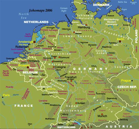 map netherlands belgium germany map of germnay and benelux johomaps