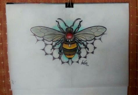traditional bee tattoo neo traditional bee design by australia