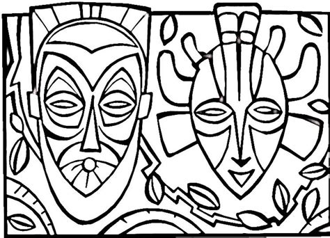 African Mask Coloring Page Az Coloring Pages Color Pages For