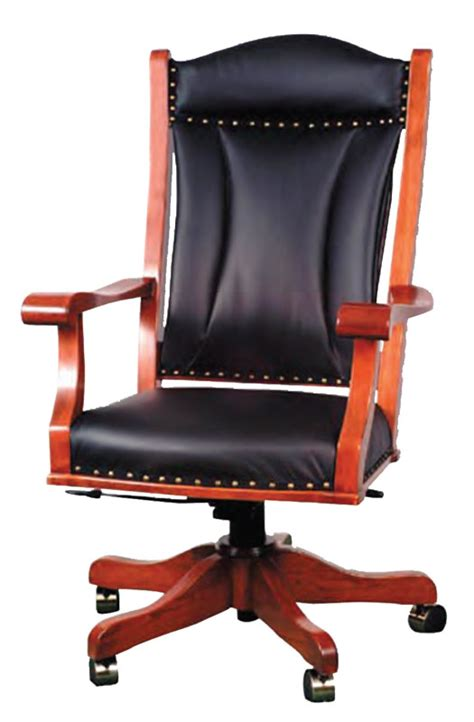 ohio state leather office chair office desk chair in solid hardwood and leather or fabric