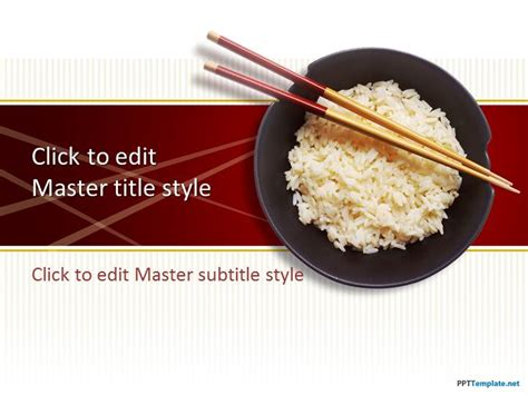 Free Rice Ppt Template Food Powerpoint Templates Free