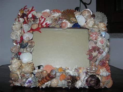 cornici conchiglie cornice con conchiglie per la casa e per te decorare