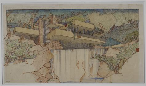 original drawings frank lloyd wright fallingwater frank lloyd wright at 150 unpacking the archive moma