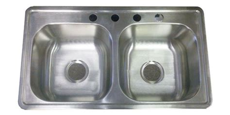 Kitchen Sinks For Mobile Homes 33 Quot X19 Quot Stainless Steel Kitchen Sink 6 Quot D For Mobile Home Manufactured Housing