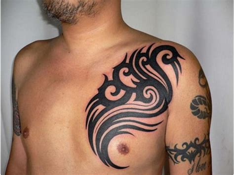 black ink tattoos for men amazing black ink tribal chest for