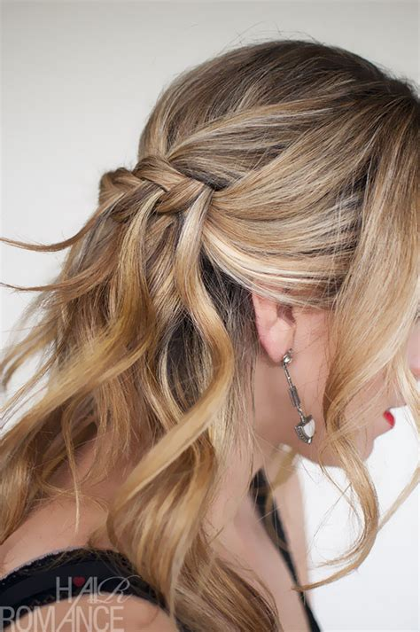 hairstyles braids and plaits waterfall plait hairstyle tutorial hair romance