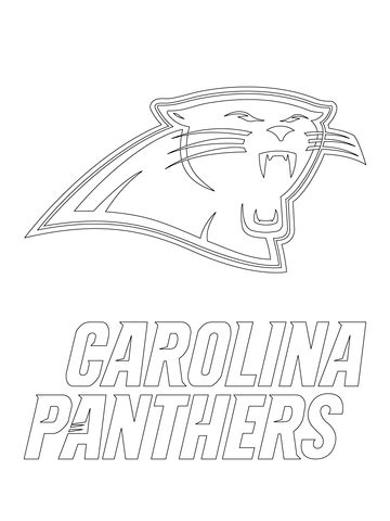 what color are panthers carolina panthers logo coloring page free printable