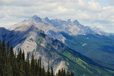 Rugged Mountains by Rugged Mountains In Banff Photograph By Phillip Flusche