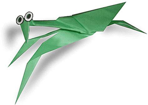 Origami Mantis - bug origami mantis paper origami guide