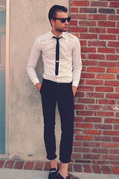 Ties For Short Men | slim tuxedo shirt short tie rolled up pants great