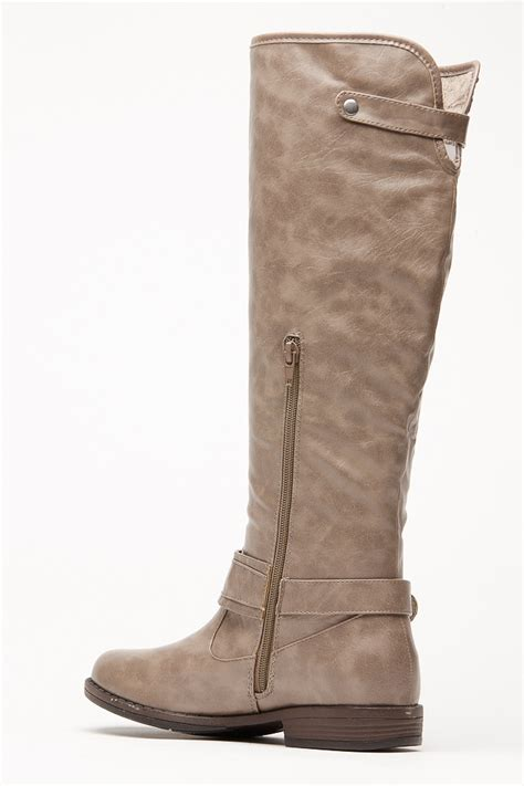 bamboo textured montage rider boots cicihot boots