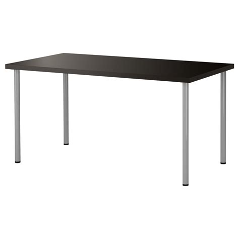 adils linnmon table black brown silver colour 150x75 cm ikea