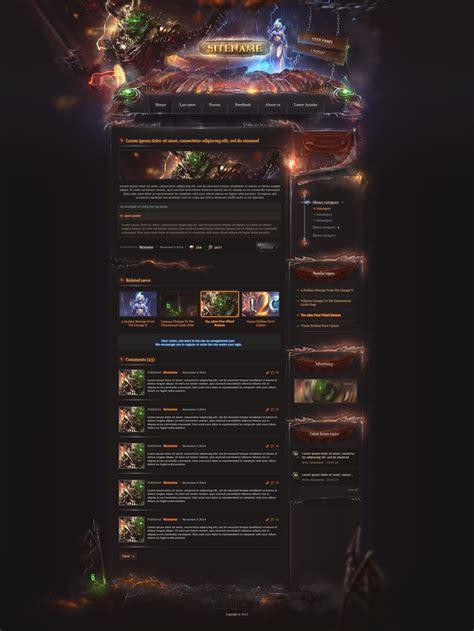 Legion Game Community Website Gaming Community Website Templates