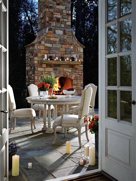 outdoor rooms and outdoor fireplaces fall s best outdoor photo page hgtv