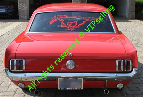 mustang back window decals ford mustang rear window big decal any color
