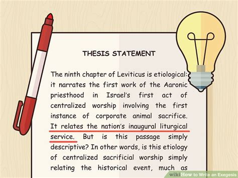 thesis literal translation how to write an exegesis 14 steps with pictures wikihow