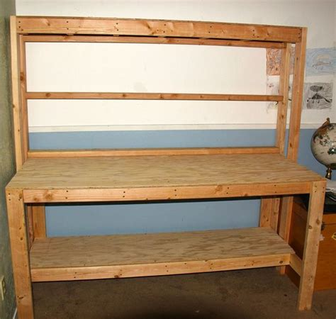 simple work bench simple wooden workbench 11 steps with pictures