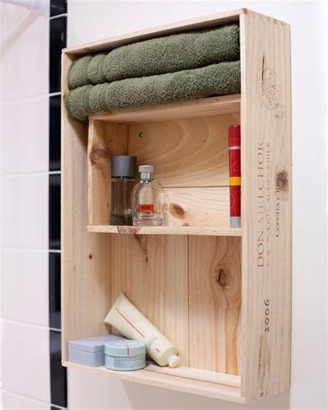 Crate Shelves Bathroom by Wine Crate Shelving For Bathroom Storage