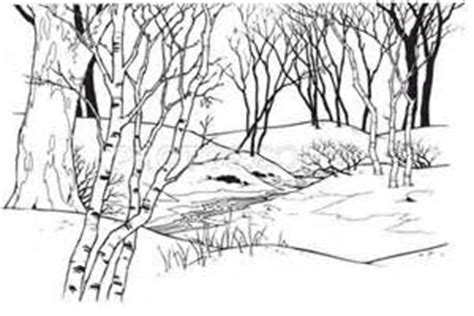 snow landscape coloring page winter landscape coloring page yahoo image search