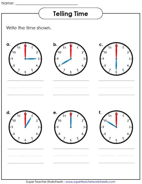 Time To The Hour Worksheets by Help Your Students Learn How To Tell Time Visit
