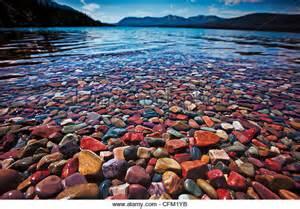 lake mcdonald montana colored rocks collecting rocks stock photos collecting rocks stock