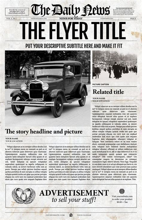 front page templates best 25 newspaper front pages ideas on