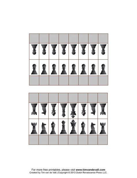 How To Make Board Pieces Out Of Paper - free printable chess pieces to use for flashcards name