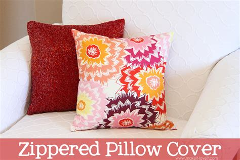 Pillow Covers by Zippered Pillow Cover Make It And It