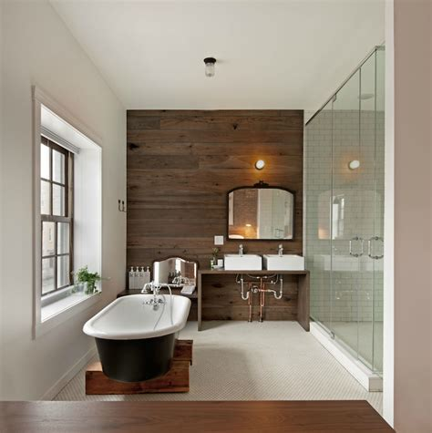 wall pictures for bathroom wood plank accent wall contemporary bathroom anthony