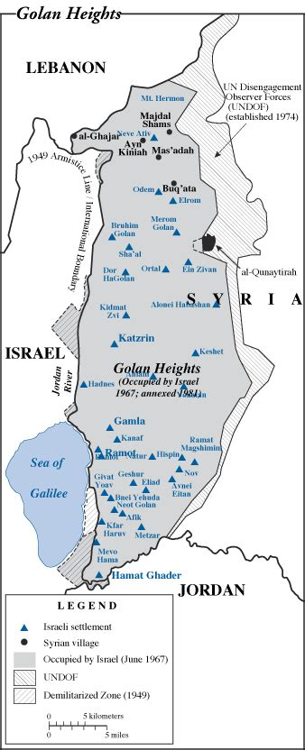 middle east map golan heights golan heights may 1998 foundation for middle east peace