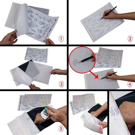 tattoo transfer paper wikihow montalia 25 x tattoo thermal carbon stencil transfer