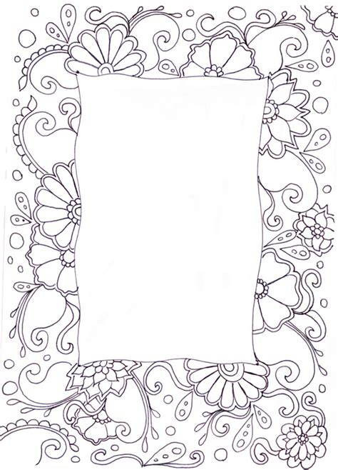 doodlebug frame zentangle patterns coloring pages and more