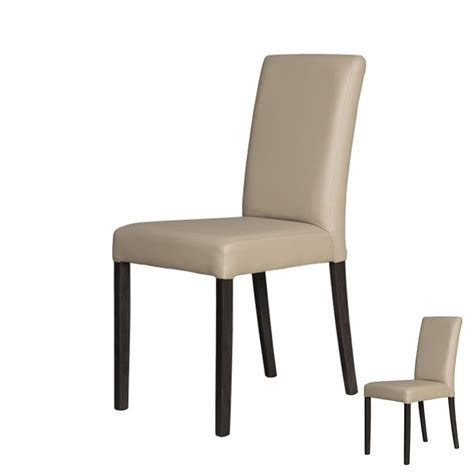 chaise simili cuir duo de chaises simili cuir taupe univers assises