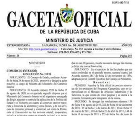 gaceta oficial de cuba inmigracion ley migratoria cubadebate