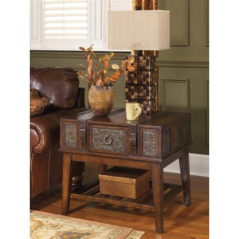 ashley furniture signature design  mckenna  table rectangular dark brown  ebay