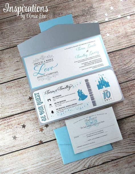 Disney Themed Wedding Invitations