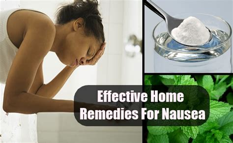 effective home remedies for nausea treatment and cure