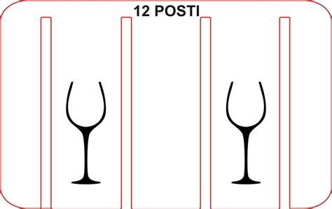 rastrelliera per bicchieri rastrelliera porta bicchieri porta calici 12 posti legno e