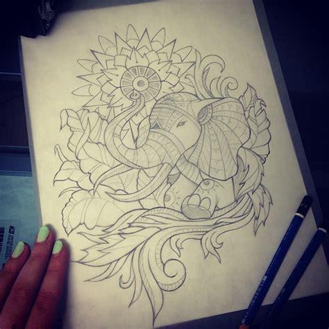 tattoo elephant sketch indian elephant drawing google search art pinterest