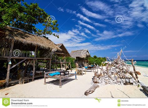 Oda Bungalow Lombok Indonesia Asia tropical bungalow on shore royalty free stock