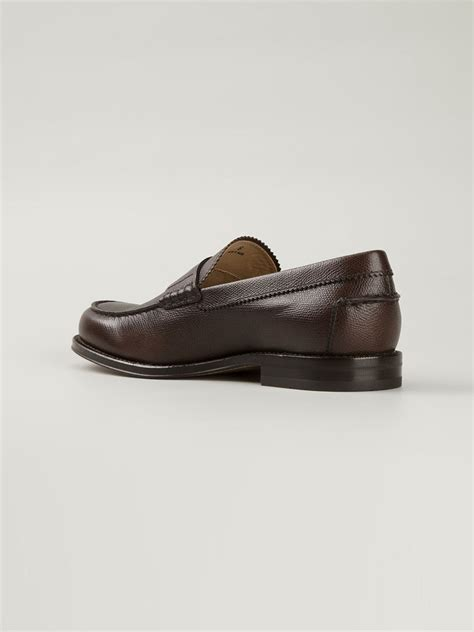 classic loafers tod s classic loafers in brown for lyst