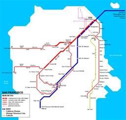 San Francisco Subway Map subway map of san francisco mapsof net