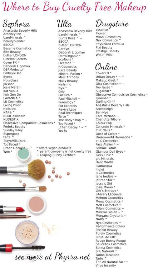 7 Top Brands At Sephora by Ultimate Cruelty Free Makeup Brands List Healthy Vegan