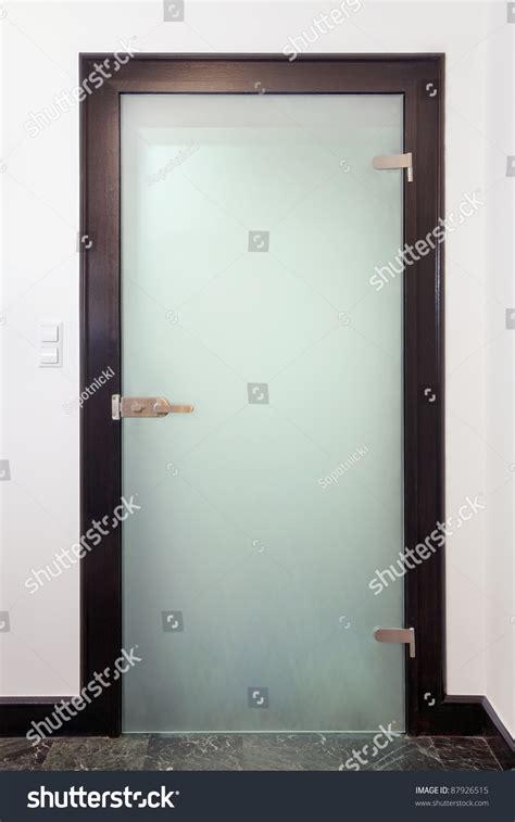 Glass Door Sales Modern Glass Door Wood And Frozen Glass Stock Photo 87926515