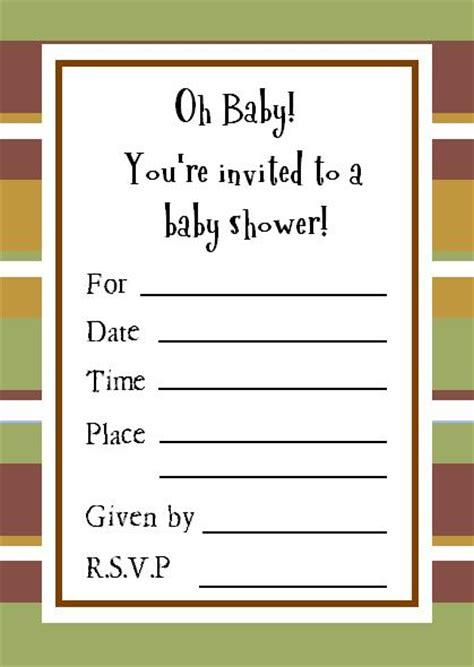 baby shower invitations exles sle baby shower invitations