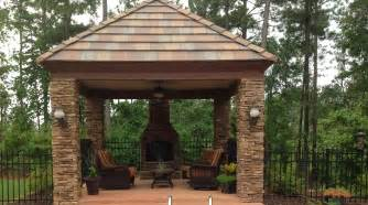 Screened In Porch Plans by Gazebo With Fireplace For Up North Pinterest