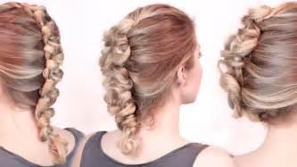 show me rockstar hair cuts rockstar hairstyles faux hawk braid updo tutorial loop