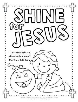 shine with the light of jesus coloring page coloring pages